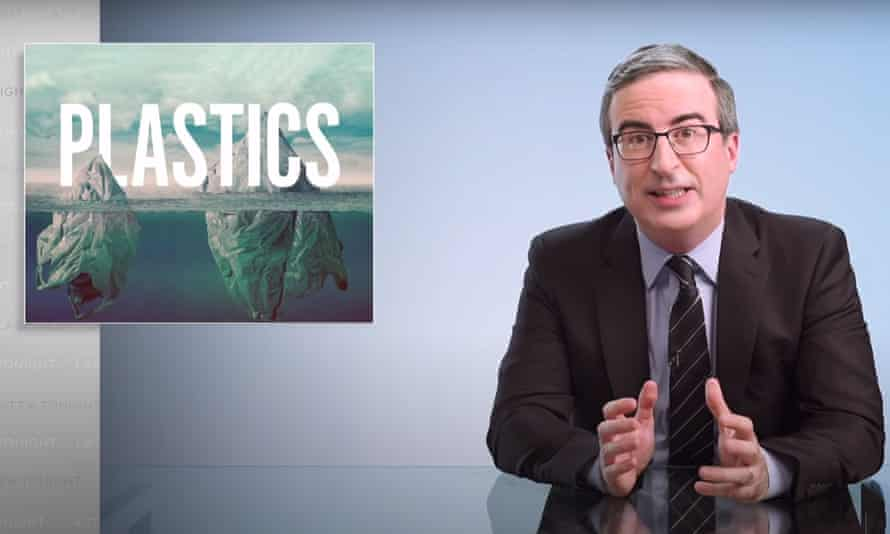 "John Oliver on mass plastic pollution and the ineffectiveness of recycling: ""Our personal behavior is not the main culprit here, despite what the plastics industry has spent decades and millions of dollars trying to convince us."""
