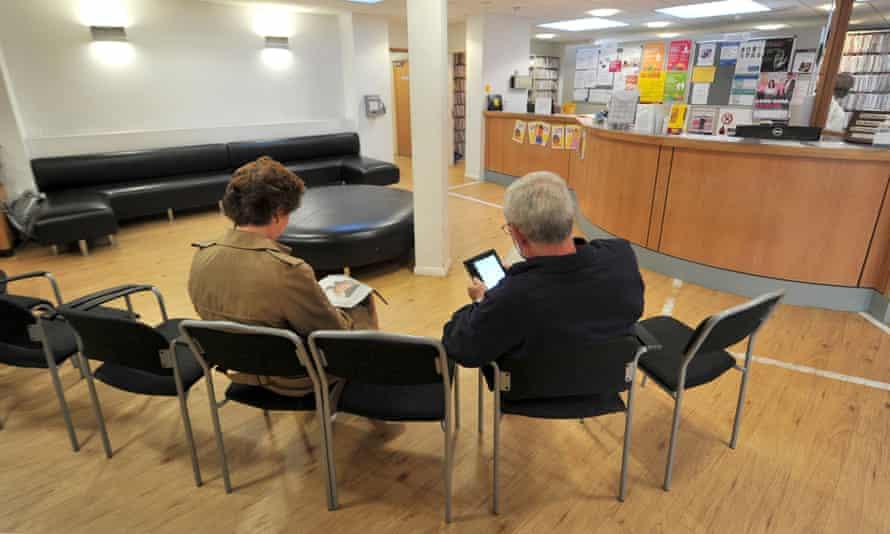 GP waiting room.