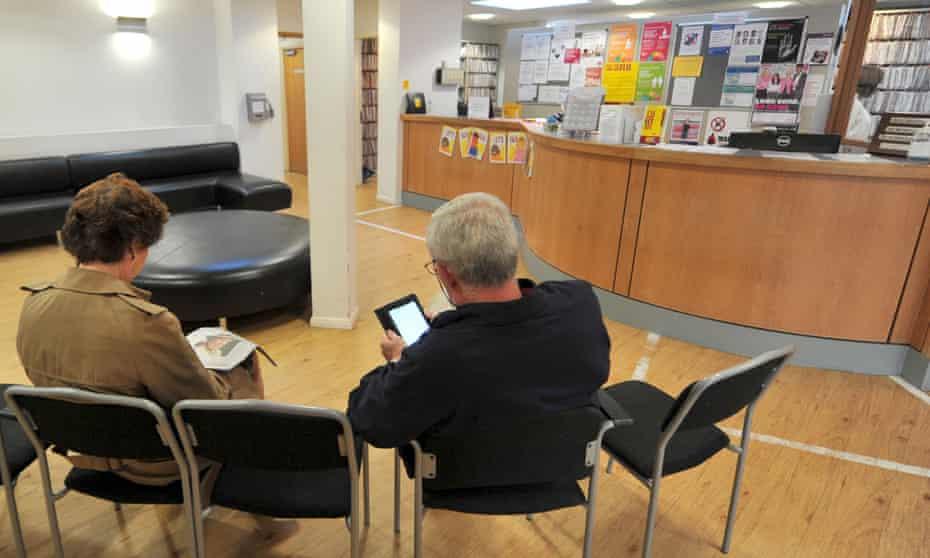 patients in gp practice waiting room