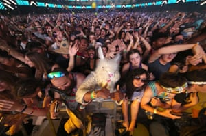 Indio, California: Revellers attend the Coachella Valley Music And Arts Festival