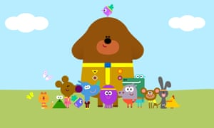 Everybody's welcome … Duggee and his young Squirrel Club charges.