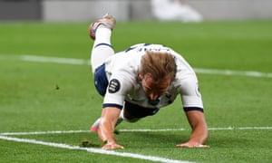 Tottenham Hotspur's Harry Kane celebrates scoring his side's second goal of the game.