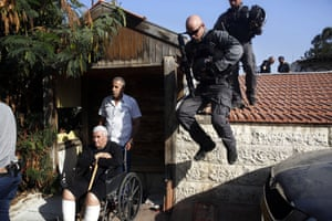 Jerusalem, Israel Police officers evict a Palestinian family