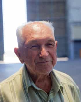 José dos Santos, one of the last people still alive to set foot on the original zeppelins.