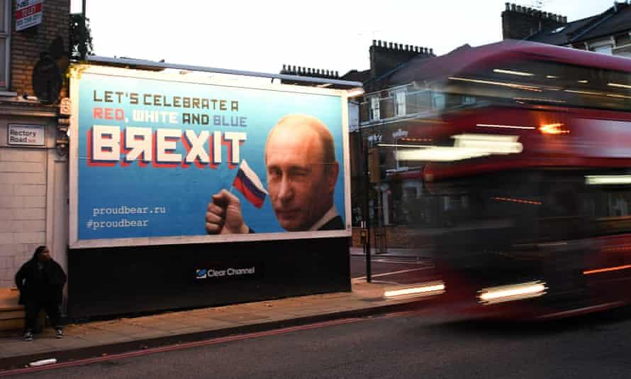 Brexit billboard in north London