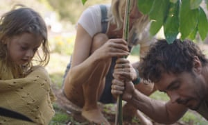 Blueprint for a way out of the climate crisis … Gameau and family in his documentary 2040.