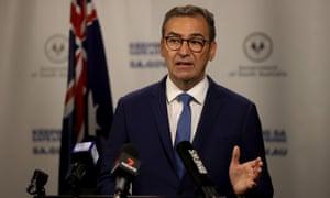 South Australian Premier Steven Marshall speaks at Covid-19 Daily update in Adelaide, Tuesday, 17 November, 2020.