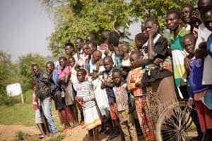 South Sudanese Refugees at Rhino refugee camp in northern Uganda.