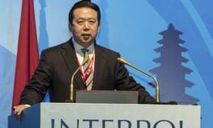 Meng Hongwei was taken into custody upon arriving in Beijing in late September 2018