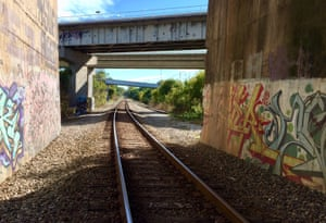 The northern active freight rail section of the Atlanta BeltLine