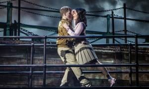 Seizing their destiny … Matt Corner and Parisa Shahmir in The Last Ship.