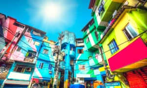Homes in a favela in Rio de Janeiro, Brazil