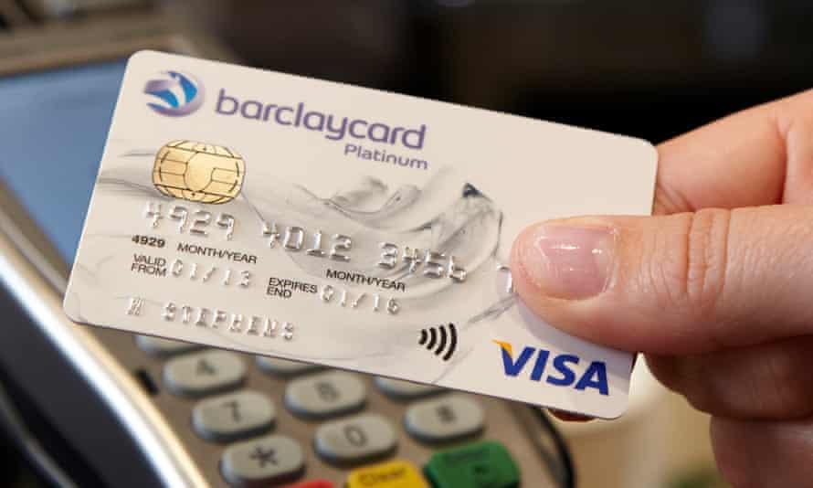 Barclaycard Visa in use