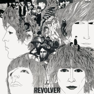 The cover of the Beatles' seventh album, Revolver.