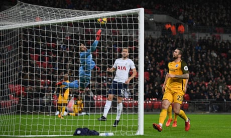 Serge Aurier's slice of luck helps Spurs to victory over Brighton and into top four