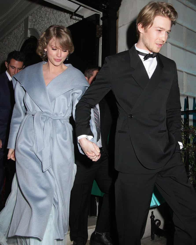With her boyfriend, actor Joe Alwyn, this year.