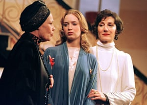 Judi Dench, Emily Blunt and Harriet Walter in The Royal Family, Theatre Royal Haymarket, London, 2001.