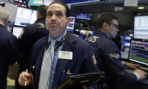 Traders on the floor of the New York stock exchange on Monday, when the Dow Jones fell.