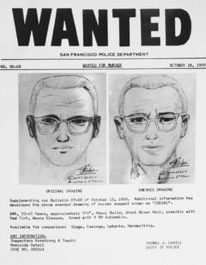 San Francisco police circulated this composite of the Bay Area's Zodiac Killer.