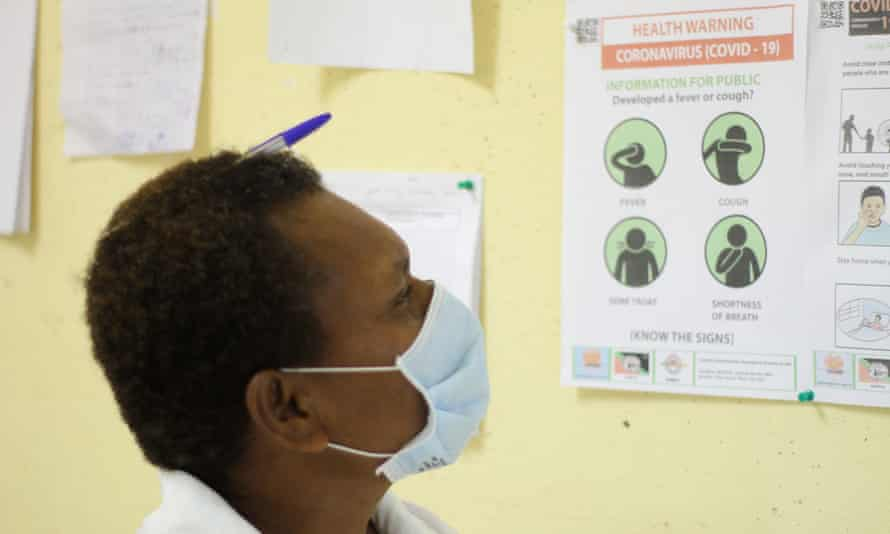 The head nurse at Warangoi Clinic, in East New Britain, PNG. PNG has limited its Covid-19 outbreak to just 11 cases.