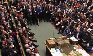 Boris Johnson addresses MPs on Tuesday 22 October