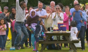 Nadiya Hussein's family jump for joy as she is wins The Great British Bake Off 2015.
