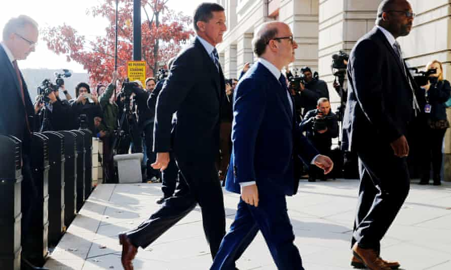 Michael Flynn arrives in court in Washington on Friday.