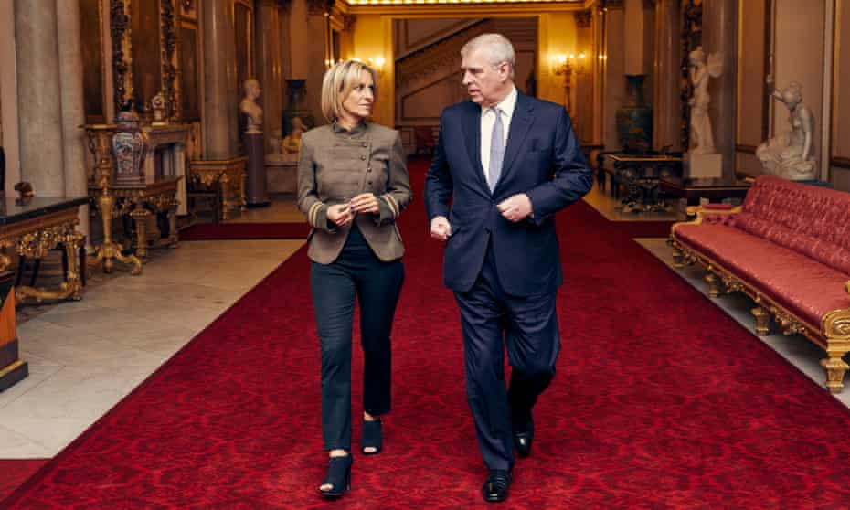 Emily Maitlis with Prince Andrew in Buckingham Palace ahead of the Newsnight interview.