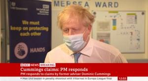 Boris Johnson being interviewed this morning.