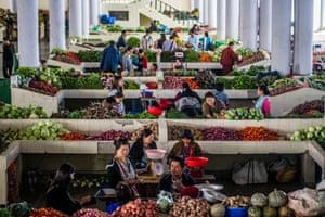 Centenary Farmer's Market in Thimphu