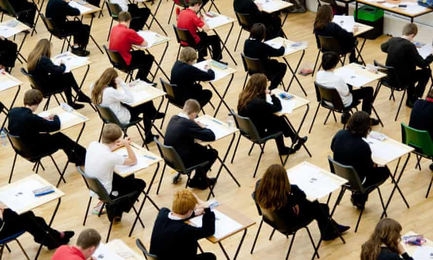 School students sit their GCSEs