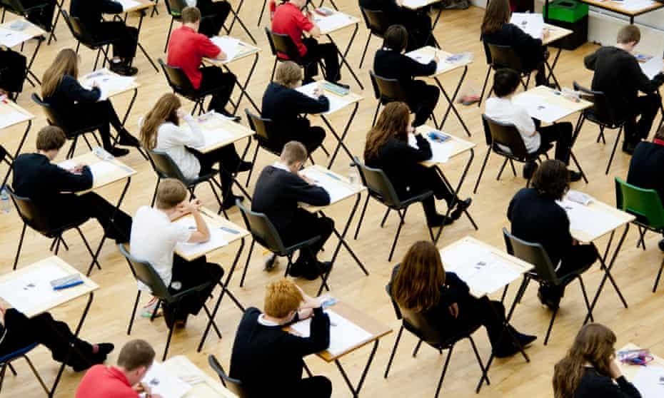 Students sitting GCSEs