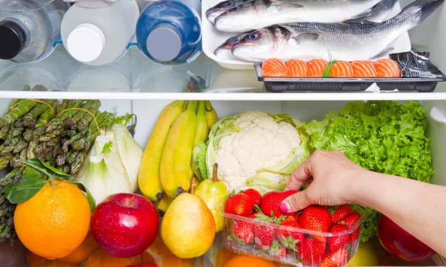 fridge full of food: Mediterranean diet