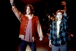 Keanu Reeves and Alex Winter in Bill & Ted's Bogus Journey.