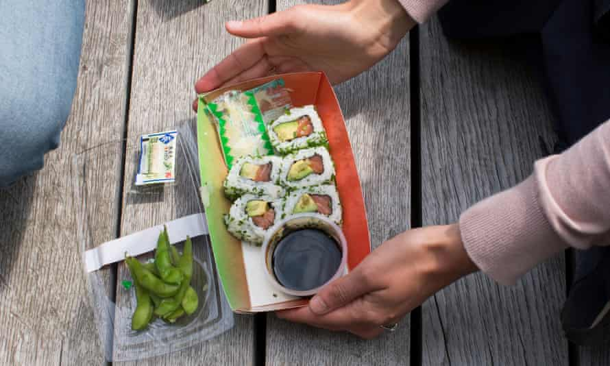 Clemence Smith's sushi lunch.