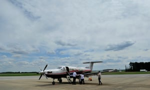 A flight prepares to depart the Shoals airport, which sees a few regional flights a day.