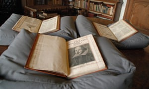The copy of Shakespeare's first folio discovered at Mount Stuart on the Isle of Bute