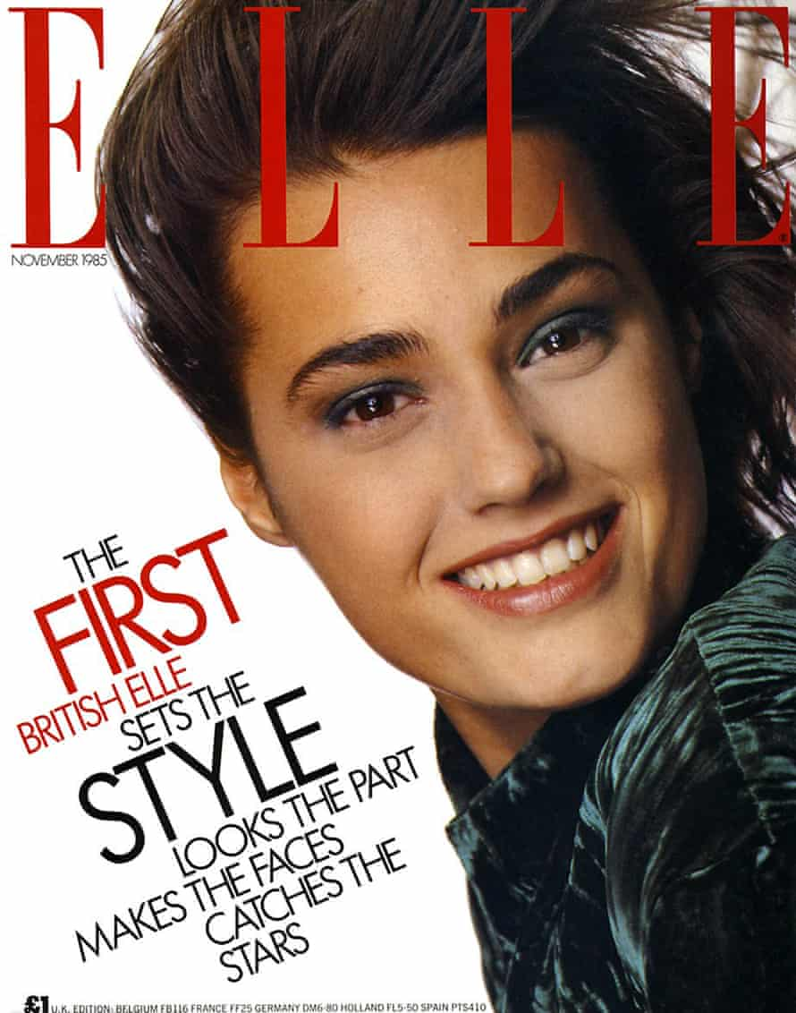 """'She was ahead of her time, making healthy, strong-looking models – the so-called """"Elle girls"""" – look like the new normal' … the first issue of Elle magazine in November 1985."""