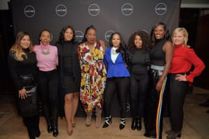 Lizzette Martinez, Andrea Kelly, Lisa Van Allen, Tarana Burke, Kitti Jones, Jerhonda Pace, Asante McGee and Gretchen Carlson attend a screening of Surviving R. Kelly.