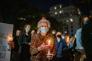 New York, US People gather at the supreme court building for a vigil held in honour of Ruth Bader Ginsburg