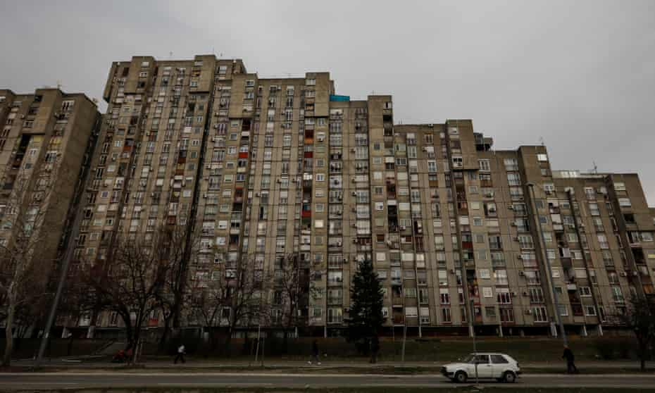 Blok 61 in New Belgrade, Serbia.