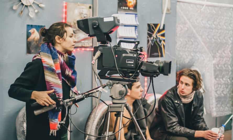 Stock image of film set
