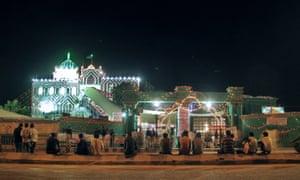 The shrine to Saint Abdullah Shah Ghazi, Karachi, Pakistan.