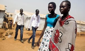 UN refugee centre in Juba, South Sudan. According to Unicef the country has the highest proportion of out of school children in the world.