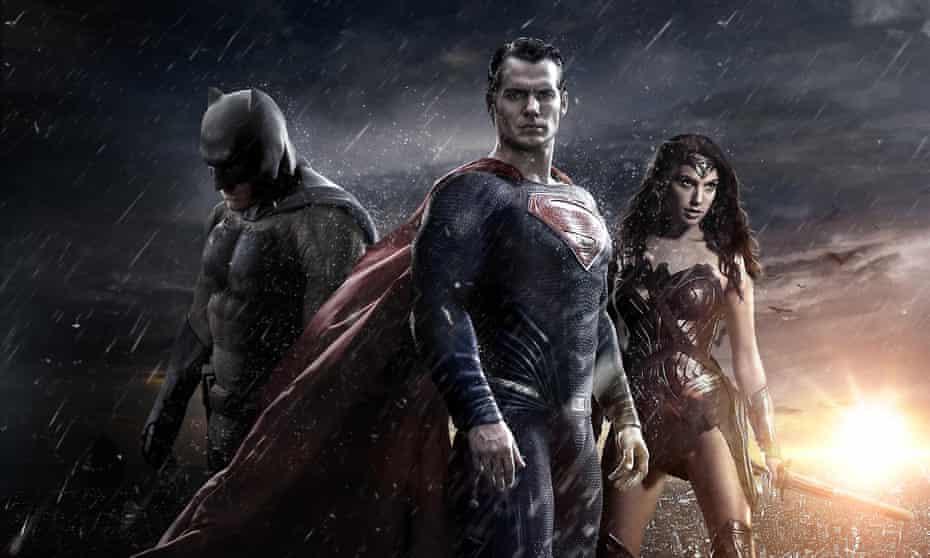 Ben Affleck, Henry Cavill and Gal Gadot in Batman v Superman: Dawn of Justice.
