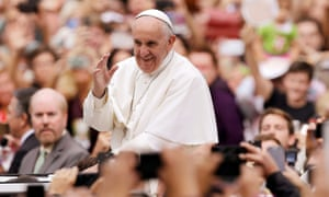 Pope Francis was greeted by rapturous crowds in Philadelphia.