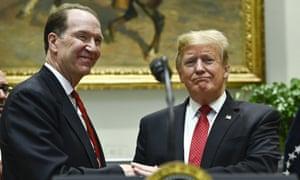 David Malpass  with Donald Trump