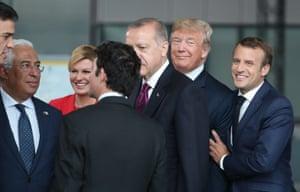 A fine bromance. Emmanuel Macron jokes with Donald Trump