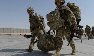 British soldiers in Kandahar in 2014