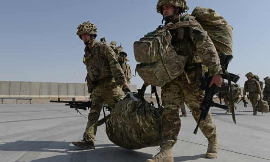 British soldiers arriving in Kandahar